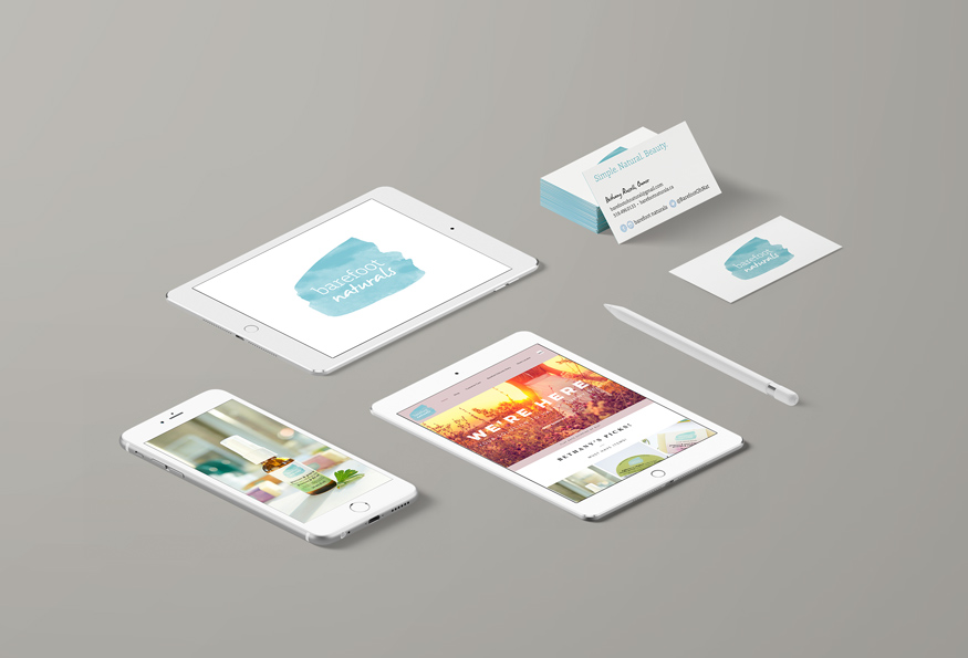 Digital devices and business cards for barefoot naturals.