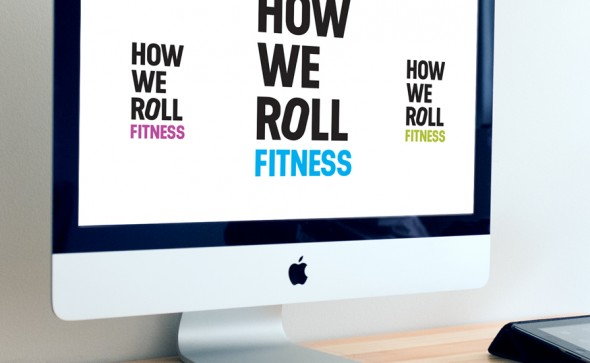 How we roll logo in a variety of colours