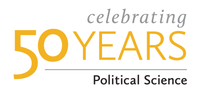 celebrating 50 years, political science