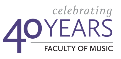 celebrating 40 years, faculty of music