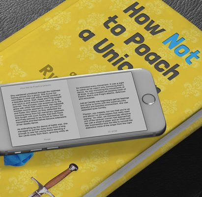 Hardover and digital version of How Not to Poach a Unicorn ebook