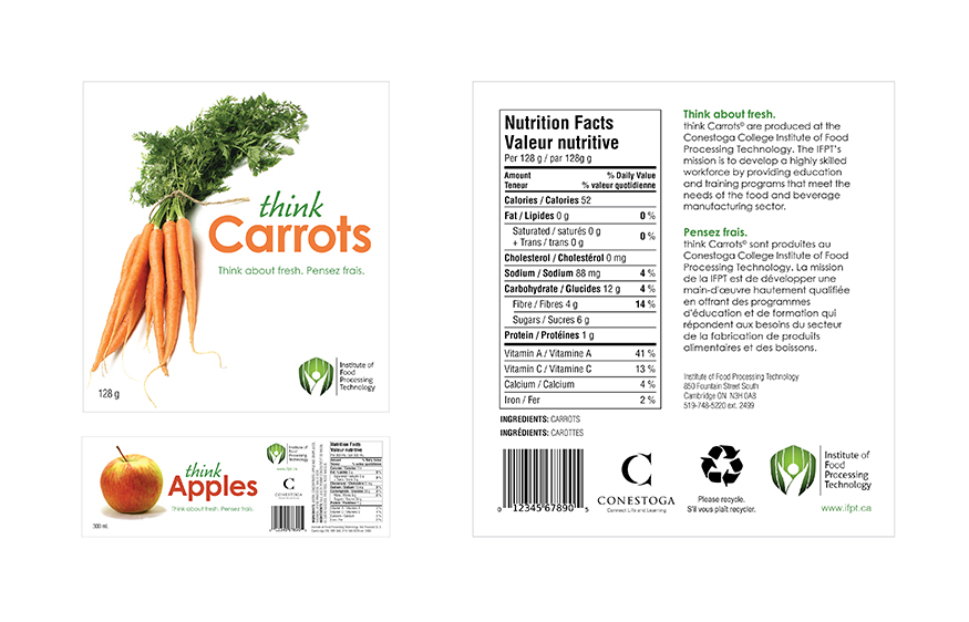 'Think Carrots' and 'Think Apples' food labels