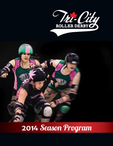 Cover of Tri-City Roller Derby season program